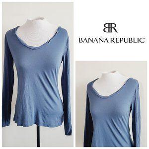 BANANA REPUBLIC Pima Cotton Blue Top